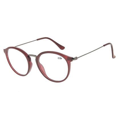 Armação Para Óculos De Grau Feminino Chilli Beans Redondo Vinho LV.IJ.0168-1722
