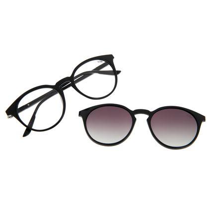 Armação Para Óculos de Grau Feminino Chilli Beans Multi Redondo Preto Polarizado LV.MU.0508-2001