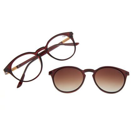 Armação Para Óculos de Grau Feminino Chilli Beans Multi Redondo Vinho Polarizado LV.MU.0508-5717