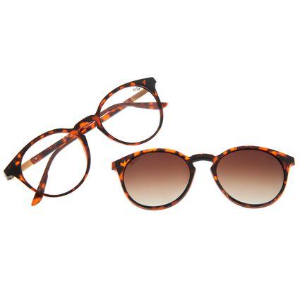 Armação Para Óculos de Grau Feminino Chilli Beans Multi Redondo Tartaruga Polarizado LV.MU.0508-5706