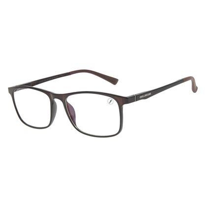 Armação Para Óculos de Grau Masculino Chilli Beans Retangular Marrom LV.IJ.0184-0202