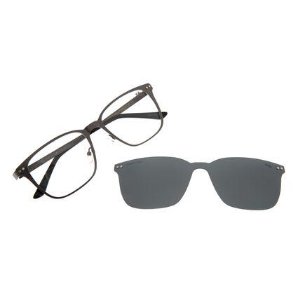 Armação Para Óculos de Grau Masculino Chilli Beans Multi Polarizado Metal Ônix LV.MU.0488-0122