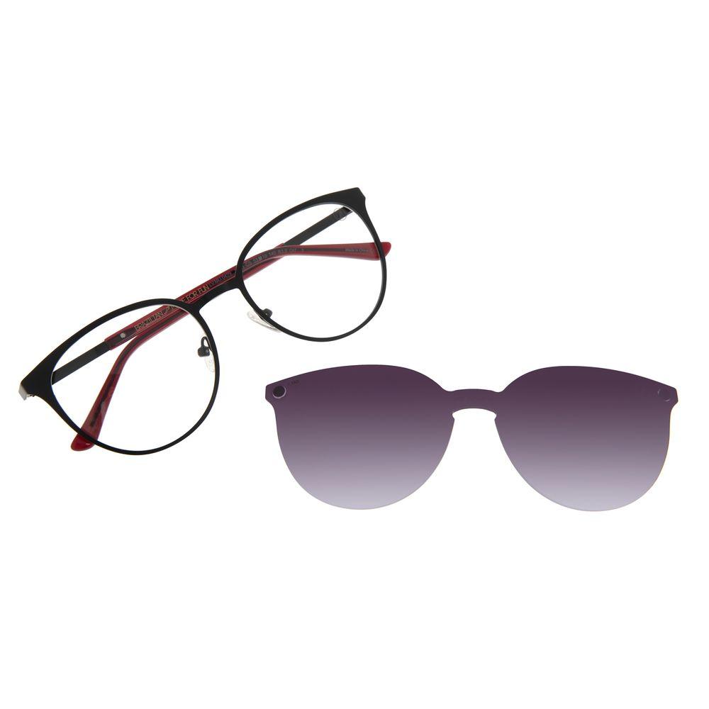 Armação Para Óculos de Grau Feminino Chilli Beans Multi Essential Metal Degradê LV.MU.0429-2001