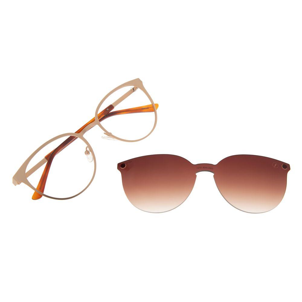 Armação Para Óculos de Grau Feminino Chilli Beans Multi Essential Metal Dourado LV.MU.0429-5721