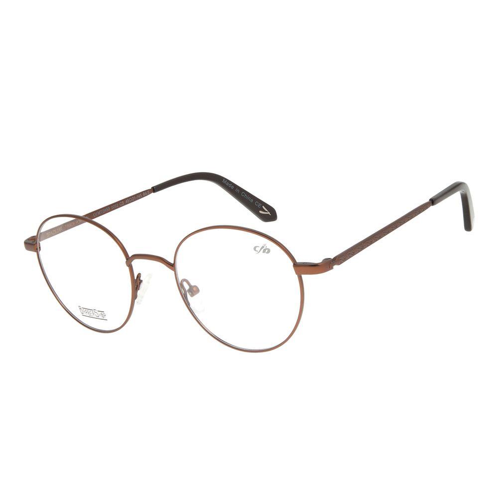 Armação Para Óculos de Grau Masculino Barber Shop Marrom LV.MT.0459-0202