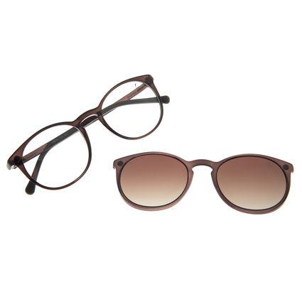 Armação Para Óculos De Grau Unissex Chilli Beans Essential Multi Marrom Escuro Polarizado LV.MU.0406-5747