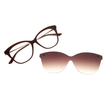 Armação Para Óculos de Grau Feminino Chilli Beans Multi Cat Marrom Escuro LV.MU.0156-5747