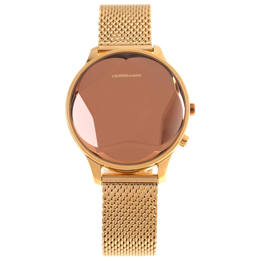 Relógio Digital Feminino Chilli Beans Facetado Dourado RE.MT.0990-9521