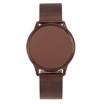 Relógio Digital Touch Feminino Chilli Beans Metal Marrom RE.MT.1072-0202