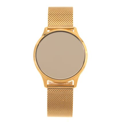 Relógio Digital Touch Feminino Chilli Beans Metal Dourado RE.MT.1072-2121