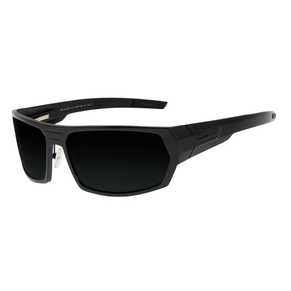 Óculos de Sol Masculino Chilli Beans Esportivo Fosco Polarizado OC.AL.0231-0131