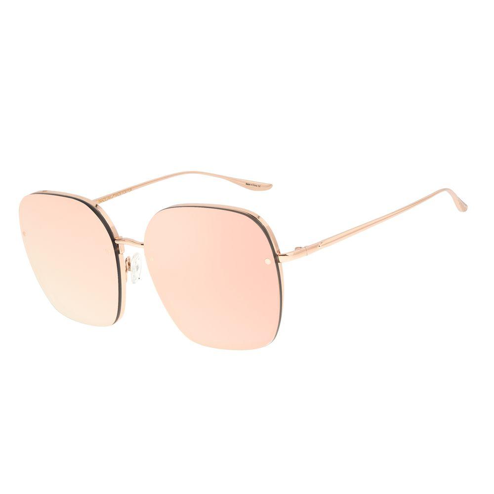 Óculos de Sol Feminino Alexandre Herchcovitch Banhado a Ouro Rosa OC.MT.2957-9595