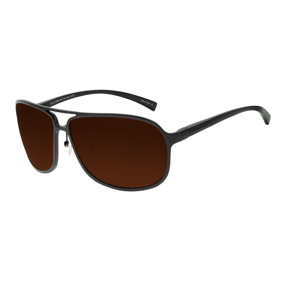 Óculos de Sol Masculino Chilli Beans Sport Quadrado Marrom Polarizado OC.AL.0248-0201