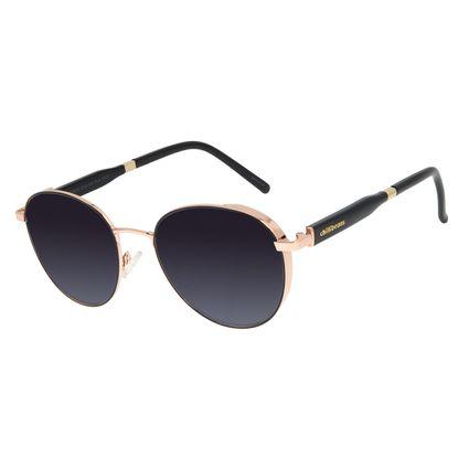 Óculos de Sol Feminino Chilli Beans Quadrado Flap Degradê Banhado a Ouro OC.MT.2919-2095