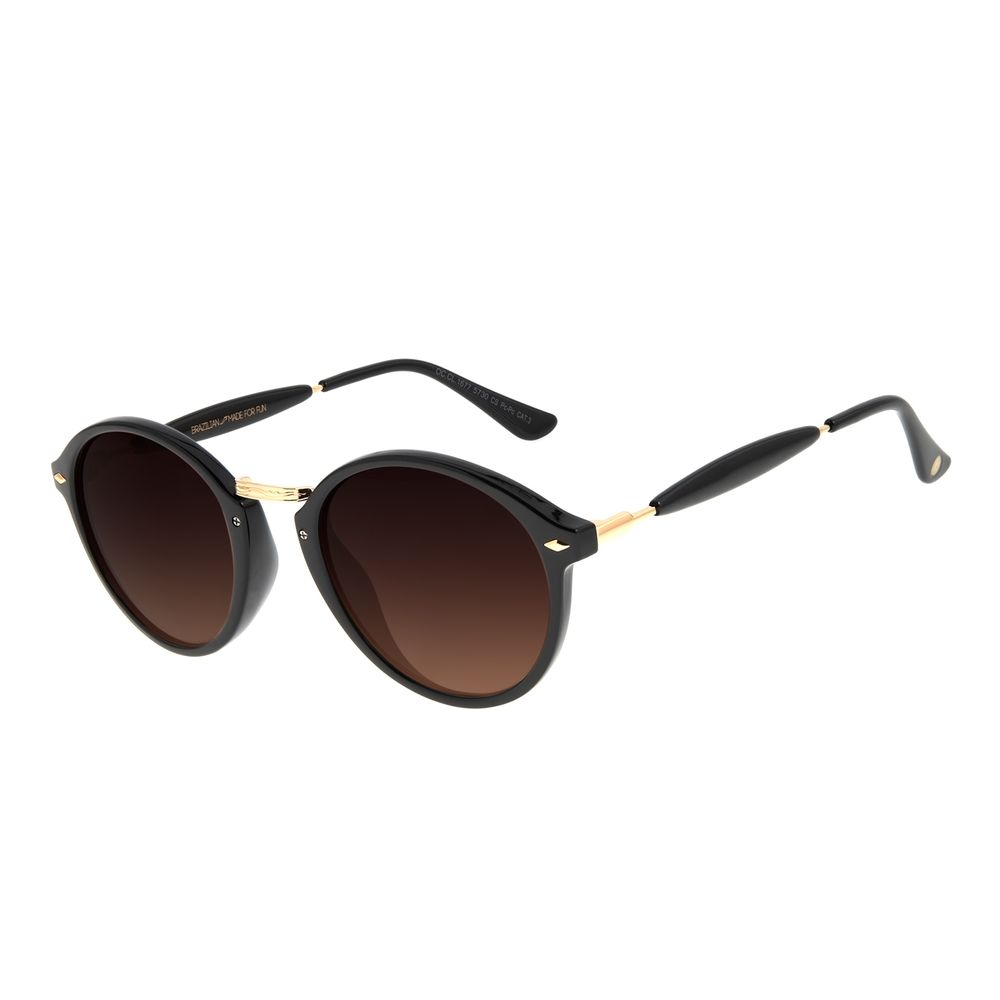Óculos de Sol Unissex Chilli Beans Essential Redondo Preto OC.CL.1677-5730