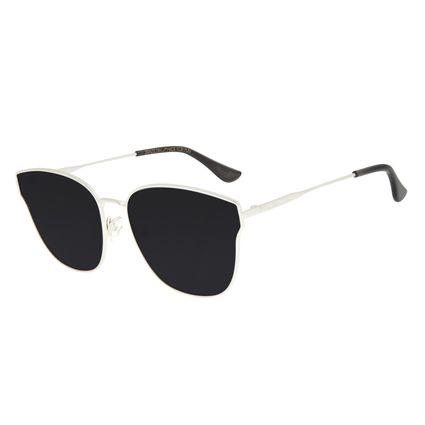 Óculos de Sol Feminino Chilli Beans Gatinho Prata Banhado a Ouro OC.MT.2918-0107