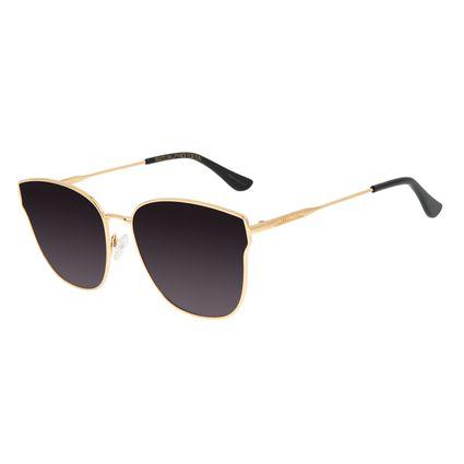 Óculos de Sol Feminino Chilli Beans Gatinho Dourado Banhado a Ouro OC.MT.2918-2021