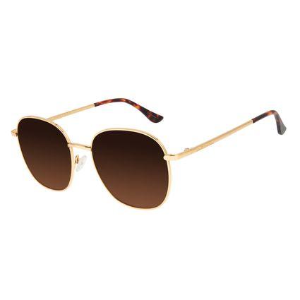 Óculos de Sol Feminino Chilli Beans Dourado Banhado a Ouro OC.MT.2917-5721