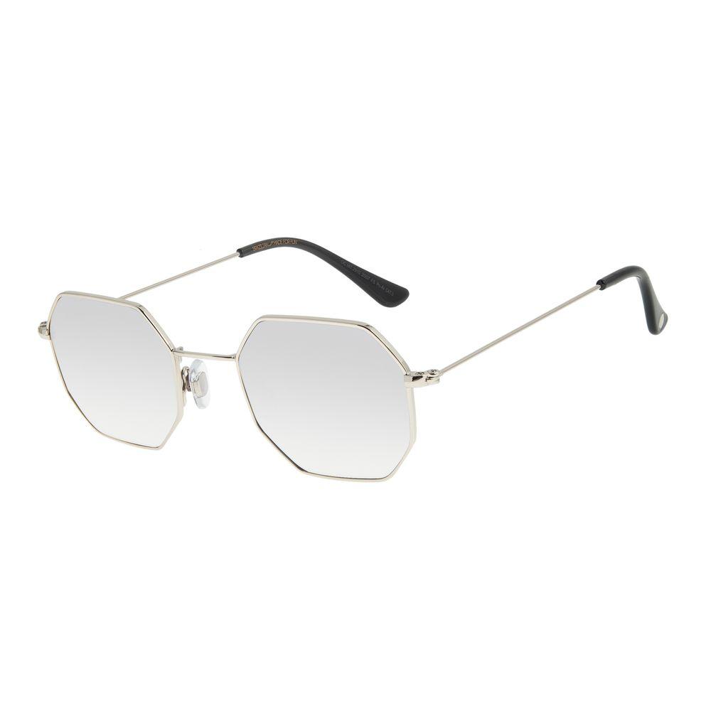 Óculos de Sol Unissex Chilli Beans Hexagonal Prata OC.MT.2910-2007