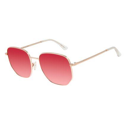 Óculos de Sol Unissex Chilli Beans Quadrado Dourado OC.MT.2901-1721