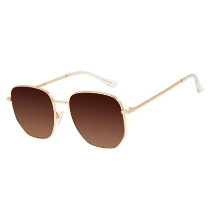 Óculos de Sol Unissex Chilli Beans Quadrado Degradê Marrom OC.MT.2901-5721