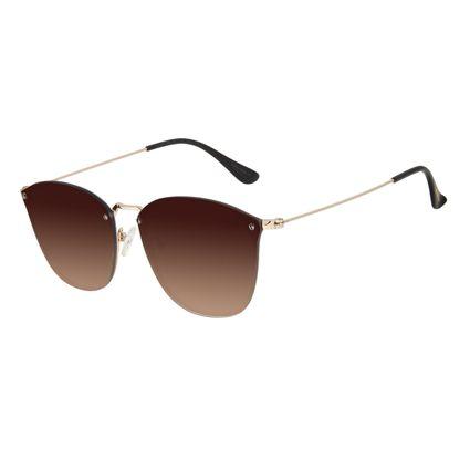 Óculos de Sol Unissex Chilli Beans Redondo Degradê Marrom OC.MT.2900-5721
