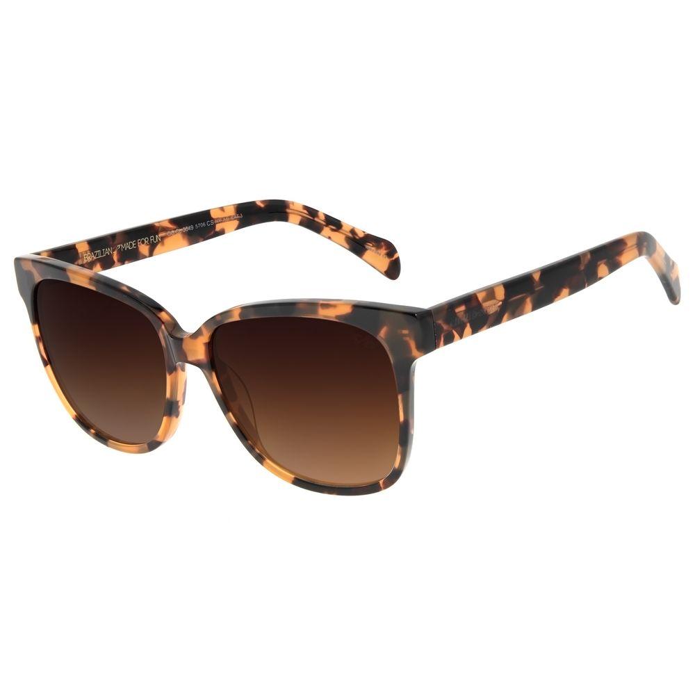 Óculos de Sol Feminino Chilli Beans Quadrado Casual Tartaruga OC.CL.3049-5706