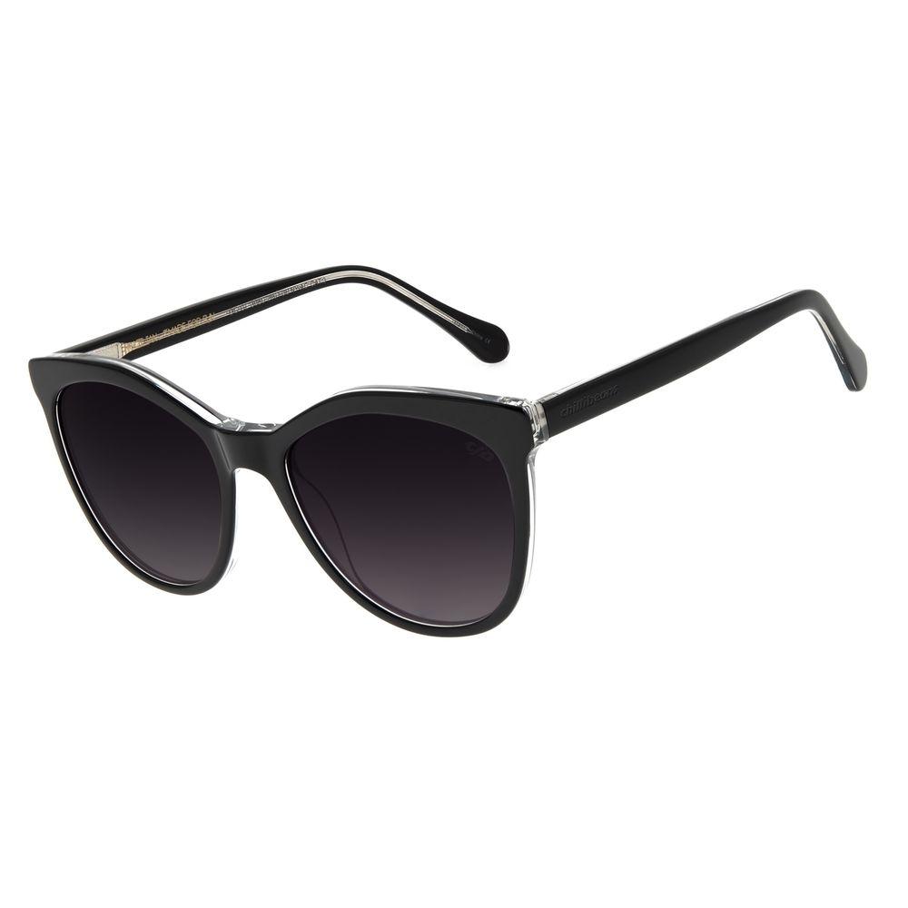 Óculos de Sol Feminino Chilli Beans Quadrado Classic Preto OC.CL.3050-2001