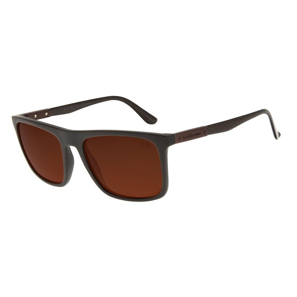 Óculos de Sol Masculino Chilli Beans Bossa Nova Marrom Polarizado OC.CL.3062-5702