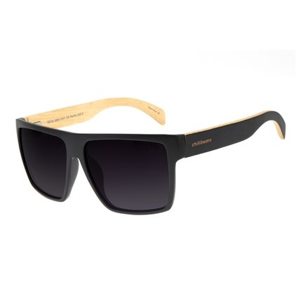 Óculos de Sol Masculino Chilli Beans Bamboo Bossa Nova Polarizado Preto OC.CL.3064-0101