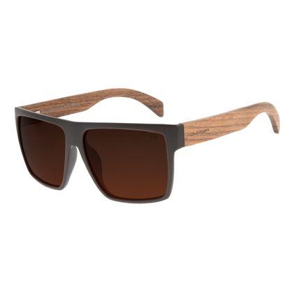 Óculos de Sol Masculino Chilli Beans Bamboo Bossa Nova Polarizado Marrom OC.CL.3064-0202