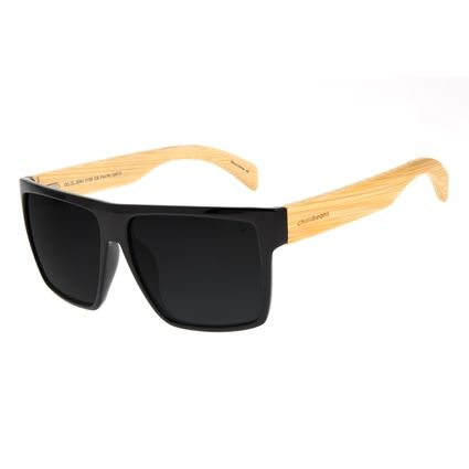 Óculos de Sol Masculino Chilli Beans Bamboo Bossa Nova Polarizado Brilho OC.CL.3064-0130