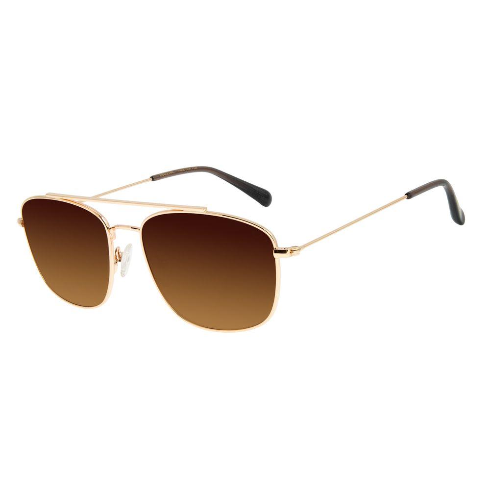 Óculos de Sol Unissex Chilli Beans Executivo Dourado OC.MT.2886-5721