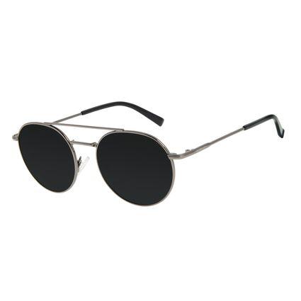 Óculos de Sol Unissex Chilli Beans Redondo Ônix OC.MT.2880-0122