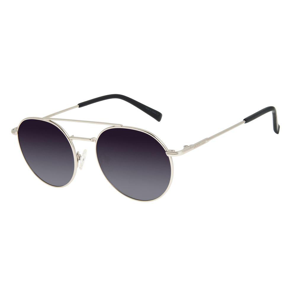 Óculos de Sol Unissex Chilli Beans Redondo Prata OC.MT.2880-2007