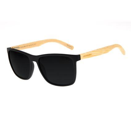 Óculos de Sol Masculino Chilli Beans Bamboo Bossa Nova Fosco Polarizado OC.CL.3093-0131