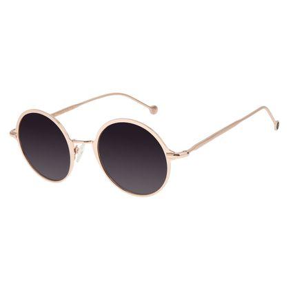 Óculos de Sol Feminino Chilli Beans Redondo Degradê Banhado a Ouro OC.MT.2868-2095
