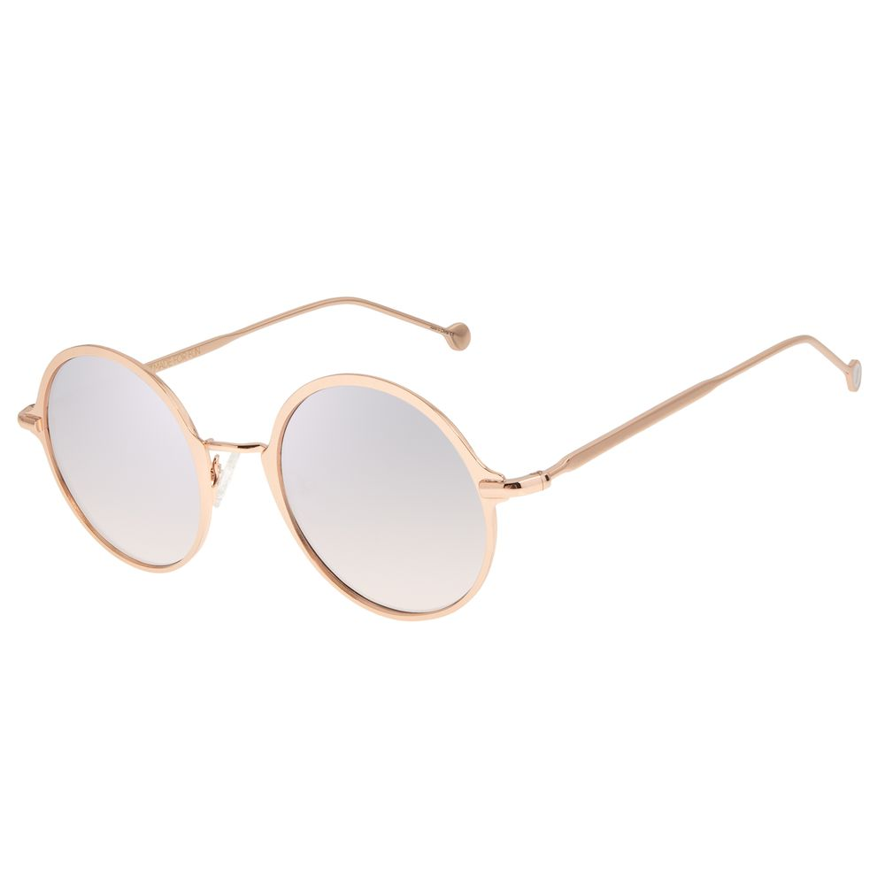 Óculos de Sol Feminino Chilli Beans Redondo Rosé Banhado a Ouro OC.MT.2868-5795