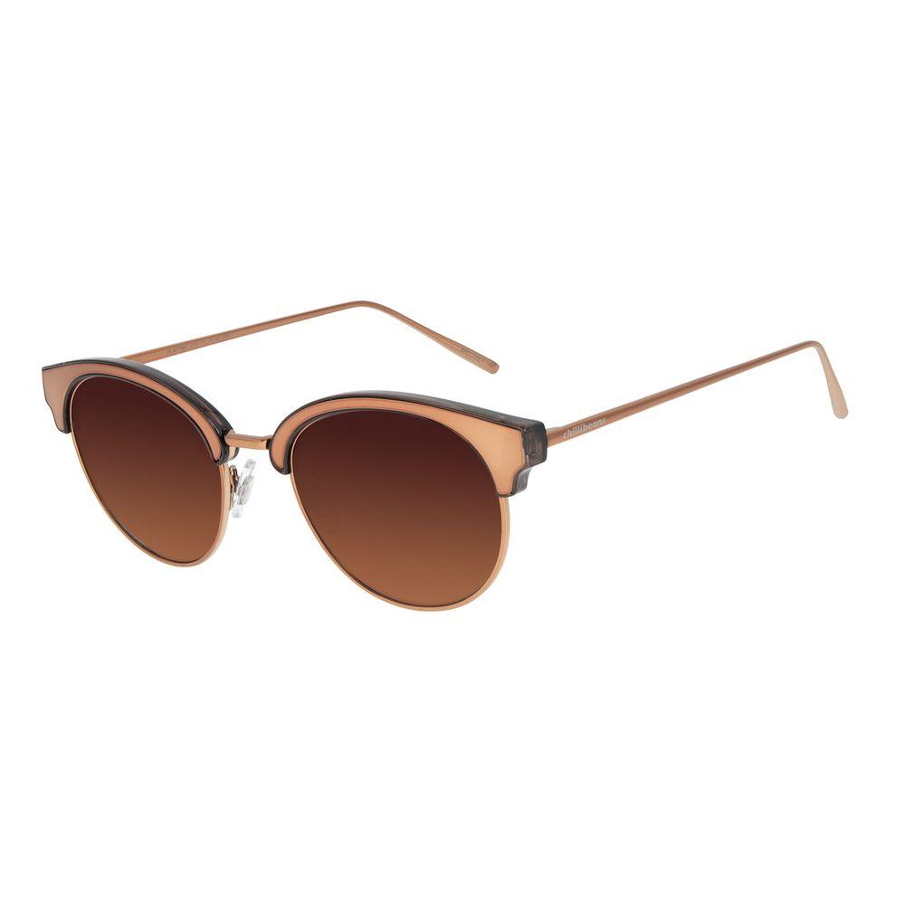 Óculos de Sol Feminino Chilli Beans Redondo Marrom OC.MT.2864-5702