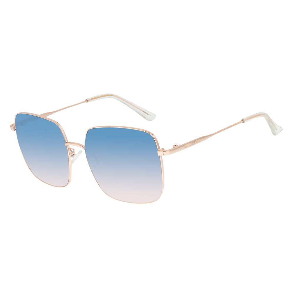 Óculos de Sol Feminino Lollapalooza Brasil Maxi Macth Degradê Azul OC.MT.2819-8395