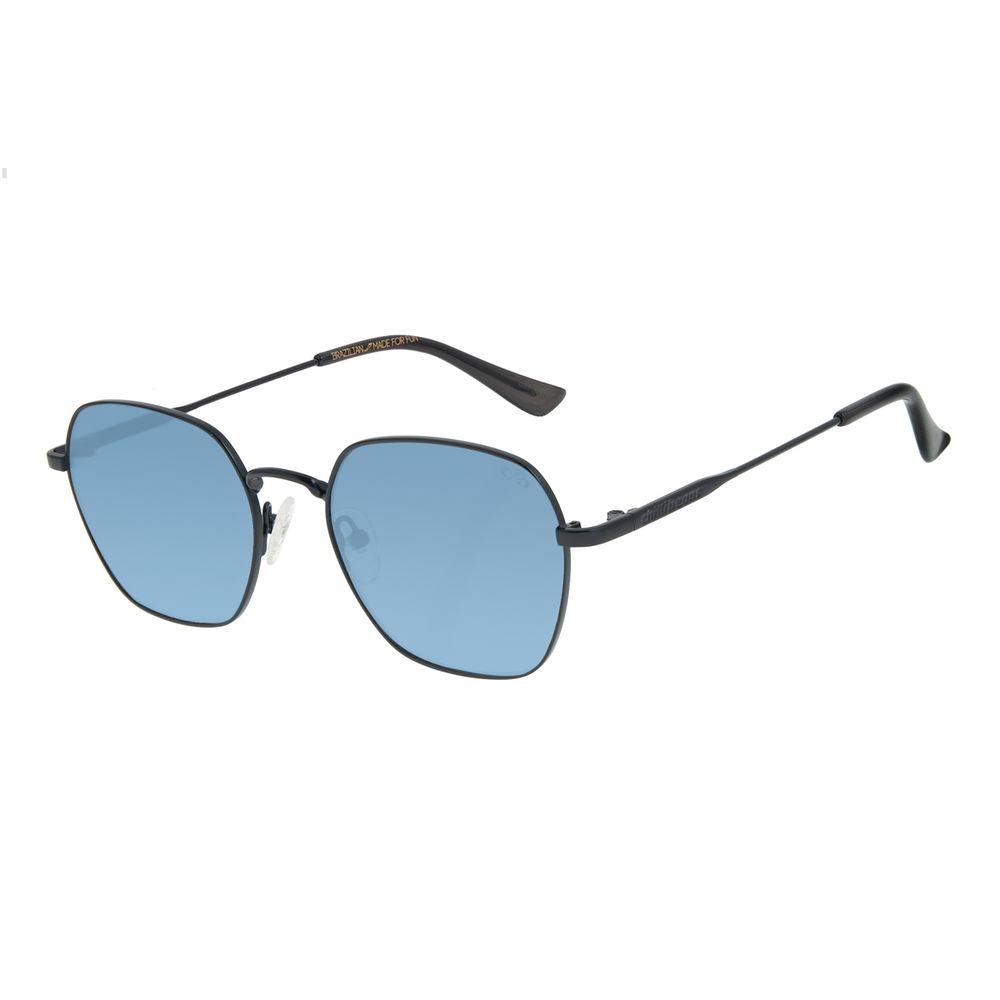Óculos de Sol Unissex Lollapalooza Brasil Colors Redondo Azul OC.MT.2818-0831