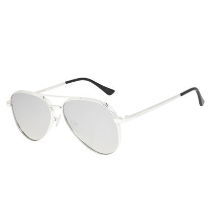 Óculos de Sol Unissex Chilli Beans Aviador Banhado A Ouro Prata OC.MT.2772-3207