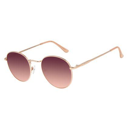 Óculos de Sol Unissex Chilli Beans Redondo Rosê OC.MT.2593-2095