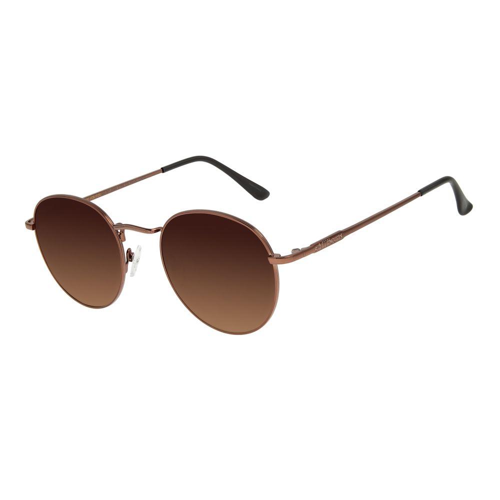 Óculos de Sol Unissex Chilli Beans Redondo Degradê Marrom OC.MT.2593-5702