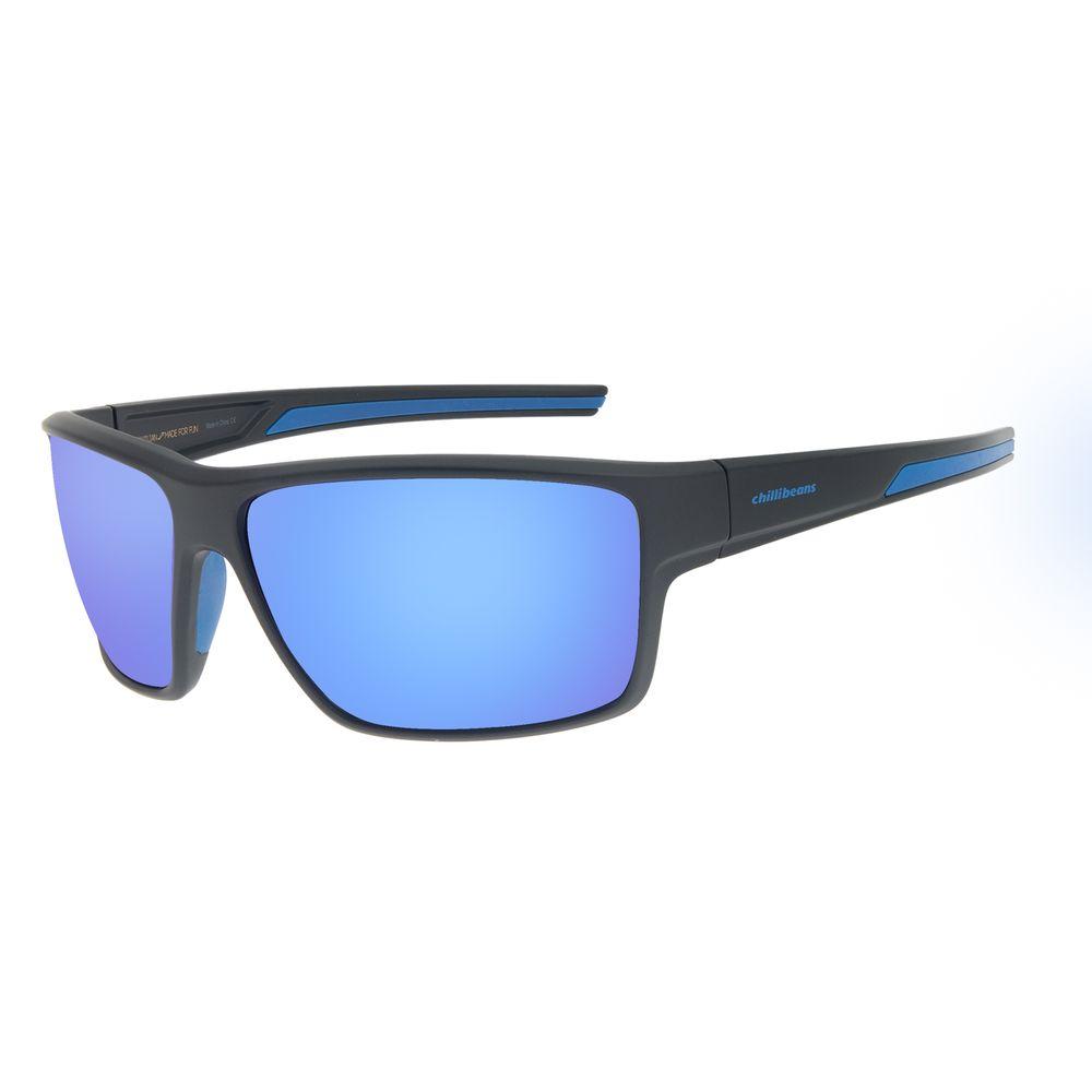 Óculos de Sol Masculino Chilli Beans Performance Azul Espelhado OC.ES.1239-9131