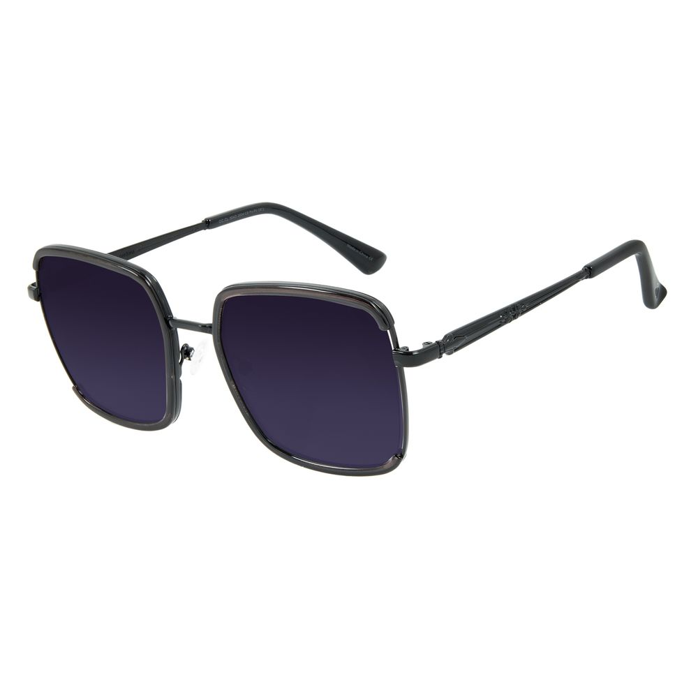 Óculos de Sol Feminino Alexandre Herchcovitch Olho de Hórus Cinza OC.CL.3043-2004