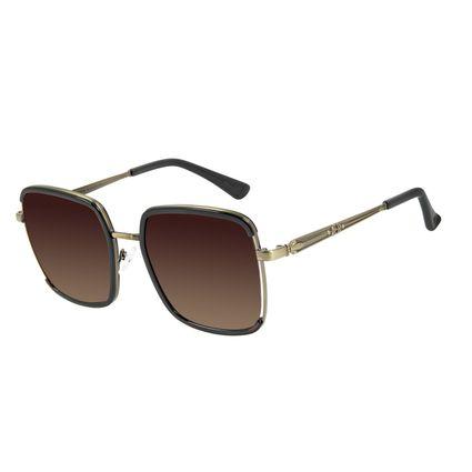 Óculos de Sol Feminino Alexandre Herchcovitch Olho de Hórus Degradê Marrom OC.CL.3043-5702