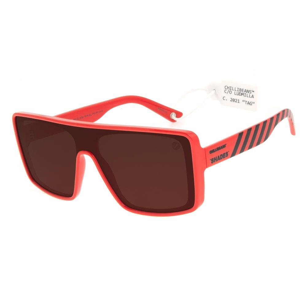 Óculos de Sol Feminino Funk-se Ludmilla Máscara Vermelho OC.CL.3164-0216