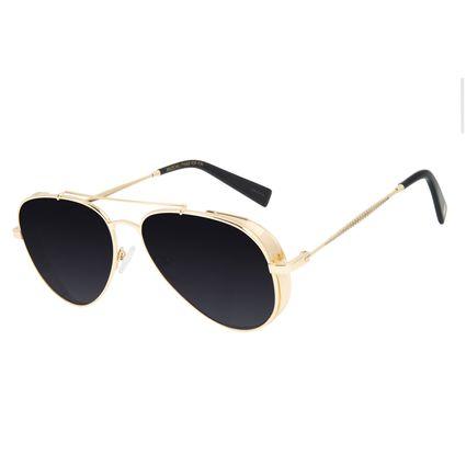 Óculos de Sol Feminino Funk-se Ludmilla Aviador Dourado OC.MT.2989-0121