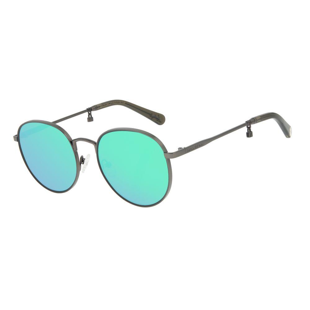 Óculos de Sol Feminino Funk-se Ludmilla Cadeado Verde Espelhado OC.MT.2992-2522